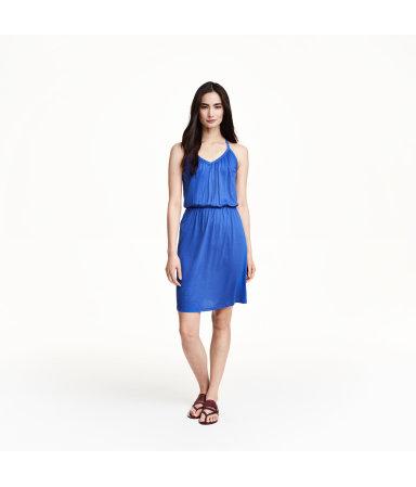 Трикотажное платье (Синий)
