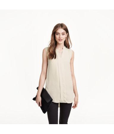 Блузка без рукавов (Светло-бежевый)
