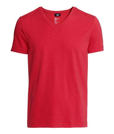 Футболка стрейч (Красный)
