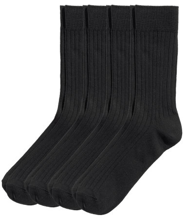 4 пары носков (Черный)