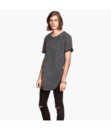 Длинная футболка (Темно-серый)