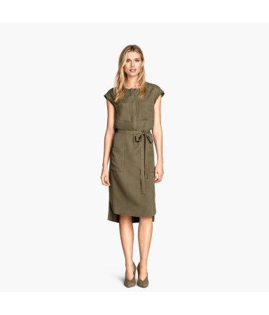 Платье-рубашка (Хаки)