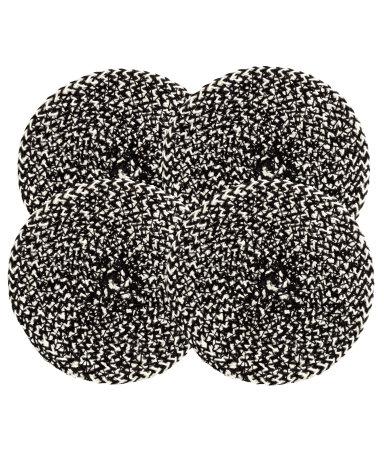 4 подставки под стаканы (Черный)