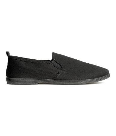 Туфли из текстиля (Черный)