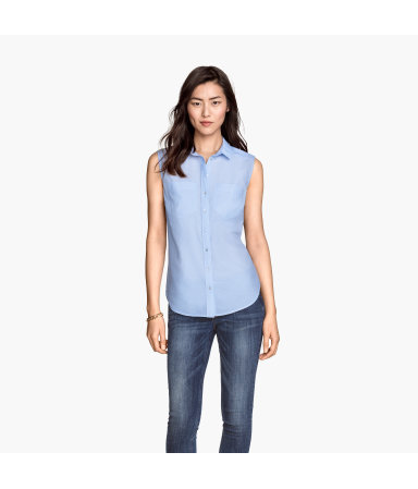 Рубашка х/б без рукавов (Коричневый)