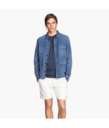 Куртка-рубашка из твила (Голубой деним)