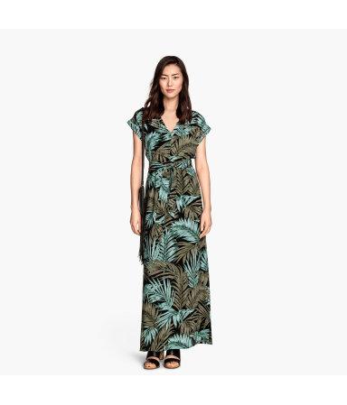 Длинное платье (Черный/Хаки)