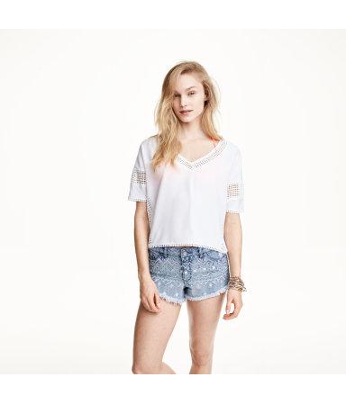 Короткая блузка (Белый)