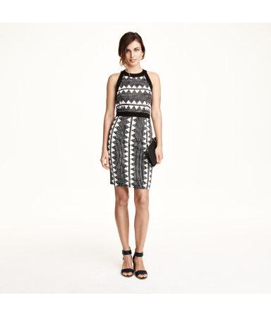 Облегающее платье (Белый)